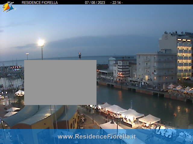 Vista del Porto di Gabicce dalla Webcam